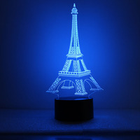 Eiffel Tower LED Night Light Creative 3D Vision LED Night Light Lovers Friends Birthday Gift Valentine's Day Gift Home Lamps