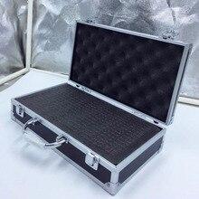 30x17x8 см алюминиевый ящик для инструментов портативный ящик для инструментов чехол для хранения с подкладкой из губки ручной ударопрочный ящик для инструментов