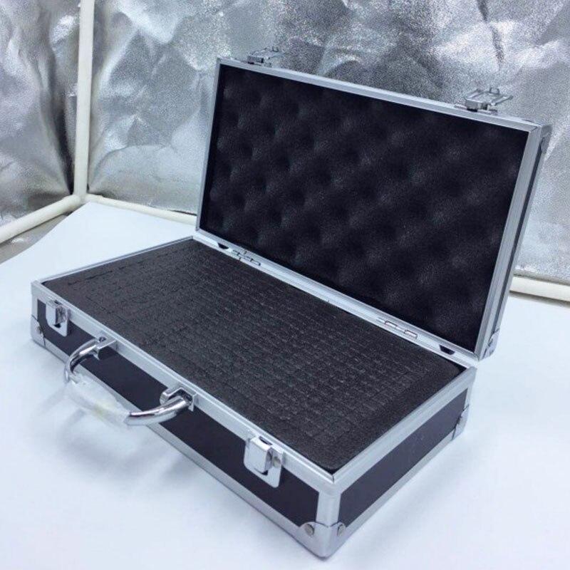 30x17x8cm Aluminium werkzeug box Tragbare Instrument box Lagerung Fall mit Schwamm Futter Handheld Auswirkungen beständig toolBox