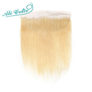 ALI GRACE Brazilian Straight 613 Blond 13x4 Lace Frontal Remy Ear to Ear Human Hair Frontal Can be dyed Free Shippping(China)