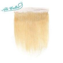 ALI GRACE brezilyalı düz 613 sarışın 13x4 dantel Frontal Remy kulak İnsan saç Frontal olabilir boyalı ücretsiz kargo