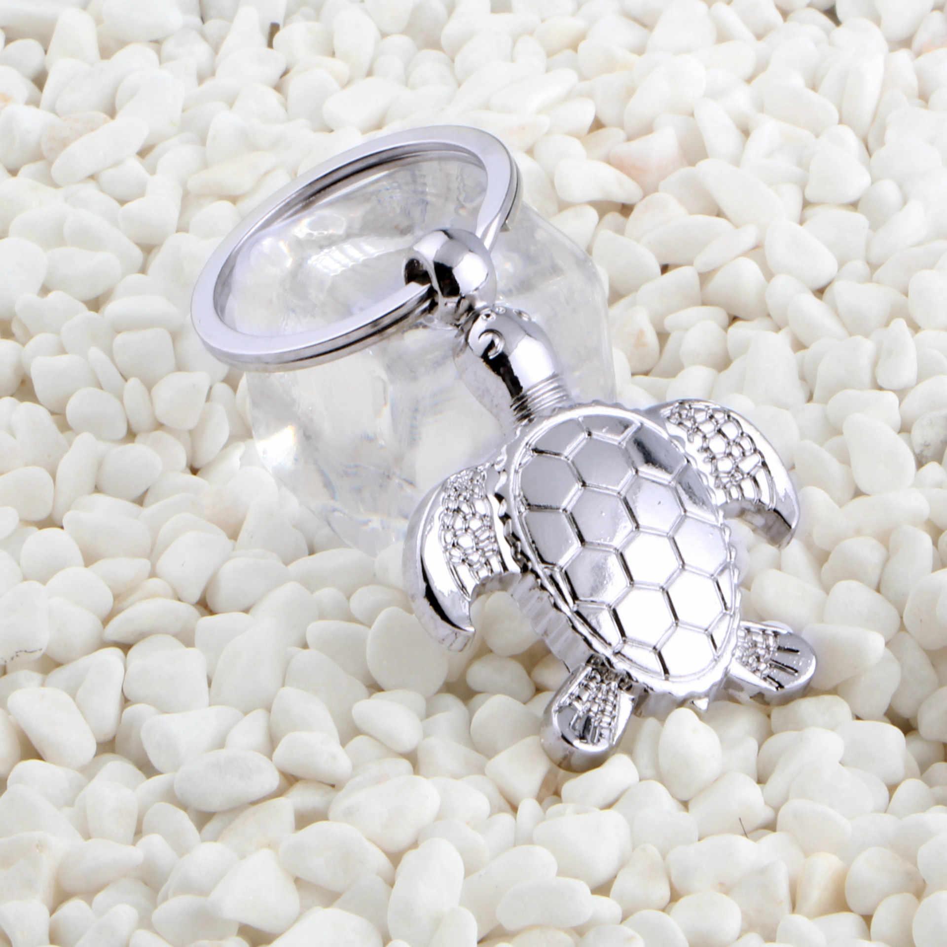 Moda tartaruga chaveiro personalidade animal pingente carro chave titular simulação tartaruga do mar chaveiro saco charme acessórios k1736