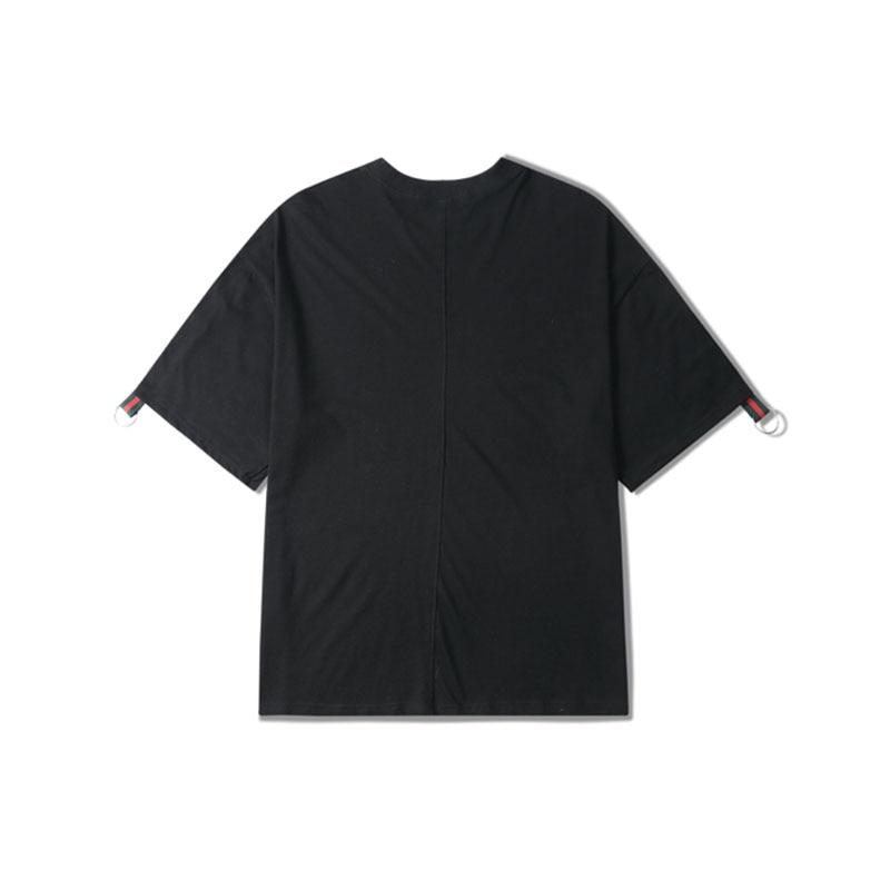 Aelfric Eden Strisce Impiombato Mens T shirt Hip Hop Anello di Ferro  Magliette Streetwear Moda Maglietta Casuale Maschio Sciolto Maniche Corte  in Aelfric ... 48fe5fd2a175