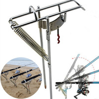 cycle zone Updated Automatic Adjustable Tackle Bracket Double Spring Stainless Steel Fishing Rod