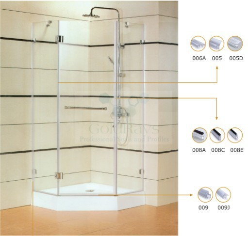 10mm 005 135 Degree Shower Door Seal Strip Diamond Shower