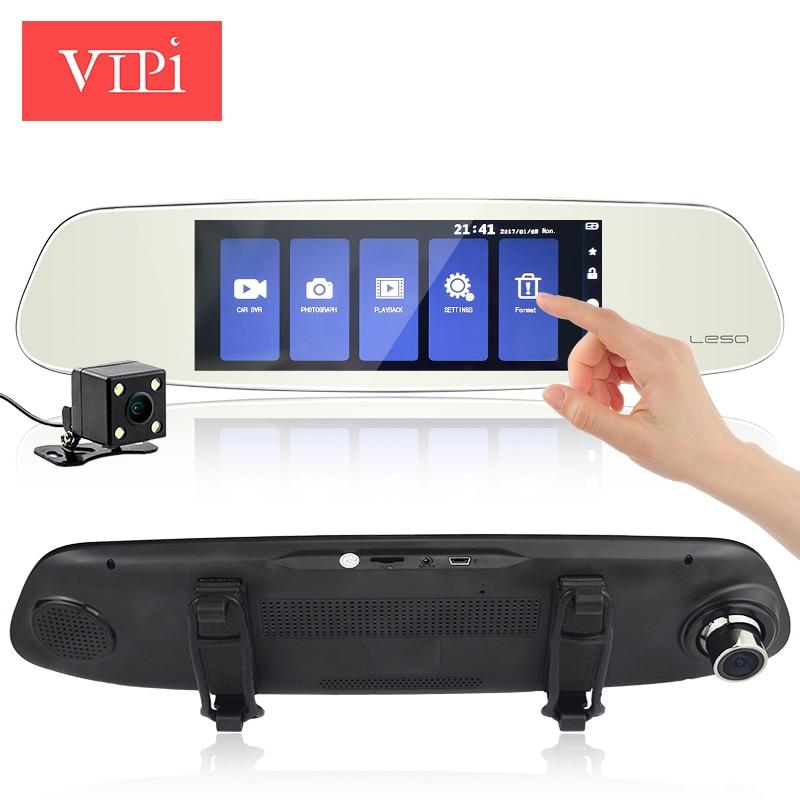 7 Touch Screen Car DVR Rearview Mirror Auto DVRs Dual Lens Dash Camera FHD1080p Night Vision