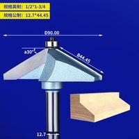 1pcs1/2 Shank Chamfer Cutter Industrial grade Router Bits for wood Horse Nose Bit 45 Deg CNC Woodworking Tool endmil 1/2*1 3/4