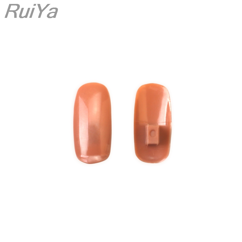 Professional 1 Practice Hand+100pcs Nail Tips Nail Art Hands Tool Adjustable Nail Art Model Hands DIY Manicure Tool For training nail art practice artificial finger for manicure training light orange 5 pcs