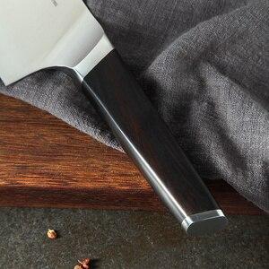 Image 5 - XINZUO 4 adet mutfak bıçağı seti paslanmaz çelik alman 1.4116 çelik yüksek kaliteli şef Santoku Nakiri Boning bıçaklar abanoz kolu