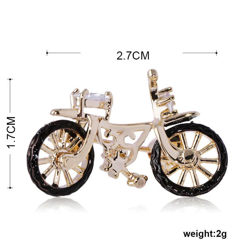 Brooch di modo Nostalgico Stile Mini Bicicletta di Cristallo Dello Smalto Dei Monili del Bambino Delle Donne Degli Uomini di Abbigliamento Sciarpa Maglione Sacchetto Retro Spilli Corpetto