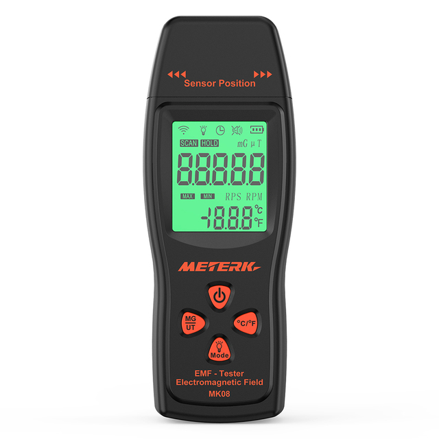 EMF Meter Handheld Mini Digital LCD EMF Detector Electromagnetic Field Radiation Tester Dosimeter Tester Counter