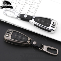 Zinc alloy Car Styling Remote Key Cover Case For Ford Focus 3 4 Mondeo MK3 MK4 Kuga Escape Edga 2017 2016 2015 key case|Key Case for Car| |  -