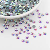Ss20 Shiny CrystalAB Smooth Glue Flatback Nails Rhinestones Strass Fabric Stones And Crystals Hot Fix Rhinestones For Clothes