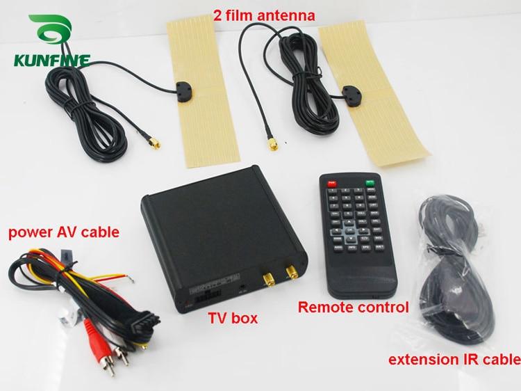 12V-24V Car ISDB-T Digital TV Receiver Box Full One Seg With Two Tuner Antenna KF-V8008 hdtv car dvb t2 dvb t multi plp digital tv receiver automobile dtv box with two tuner antenna