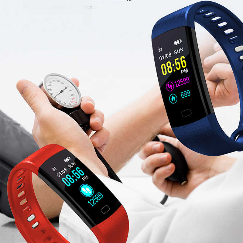ליגע חדש חכם שעון גברים נשים ריצת טיפוס רכיבה רב פונקצית פדומטר קצב לב צג לחץ דם Smartwatch + תיבה