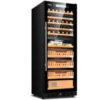 FUKE cigar cabinet led light humidor display large Wooden Cigar Cooler FK-168CW1