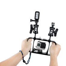 Dual Arm Scuba Diving Dive Bracket Flashlight Tray Stabilizer Mount for Gopro Sony SJCAM Action Camera/ Smartphone Spare Parts