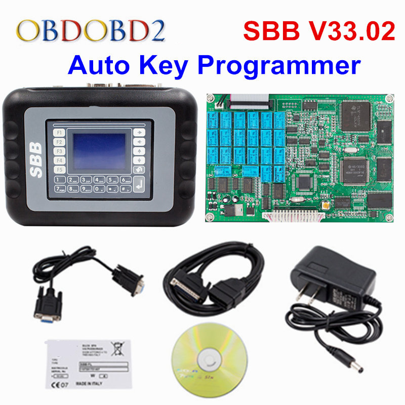 2017 Professional Universal Auto Key Programmer SBB V33.02 SBB Immobilizer Key Maker 9 Languages For Multi-Brand Cars 2015 universal sbb key programmer by immobilizer for multi brands sbb silca v33 02 free shipping