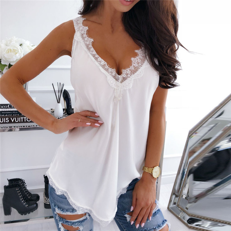 Summer   tops   for women 2019 Fashion Womens Sleeveless   Tops   T-shirt Vest   Tank     Top   girl Shirt vestidos