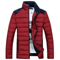 2016 winter new Men's clothing wadded jacket stand collar down cotton-padded jacket plus size slim cotton-padded outerwear male