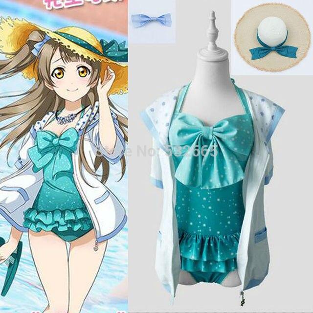 Minami Kotori Cosplay Costume Anime Swimwear Swimsuit Biquini Bikini Minalinsky Cosplay Costume