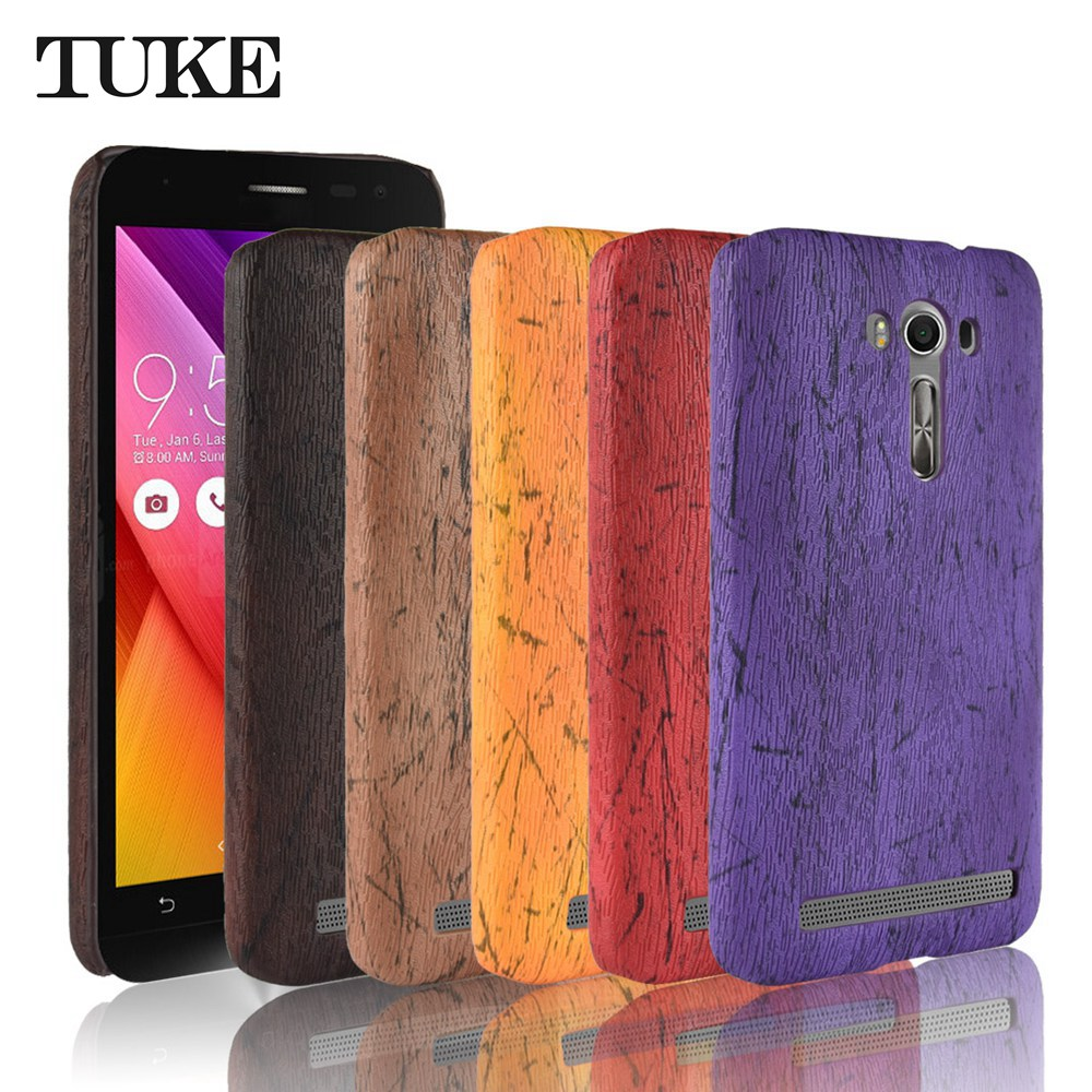 TUKE For <font><b>Asus</b></font> <font><b>Zenfone</b></font> <font><b>2</b></font> laser ZE550KL Phone Funda Leather Wood Grain Plastic Case For <font><b>Asus</b></font> ZE550KL ZE <font><b>550KL</b></font> Back Cover image