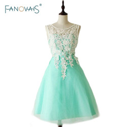 Vestidos de fiesta 2015 teal appliques v neck bridesmaid dress with sashes knee length kleider wedding.jpg 250x250