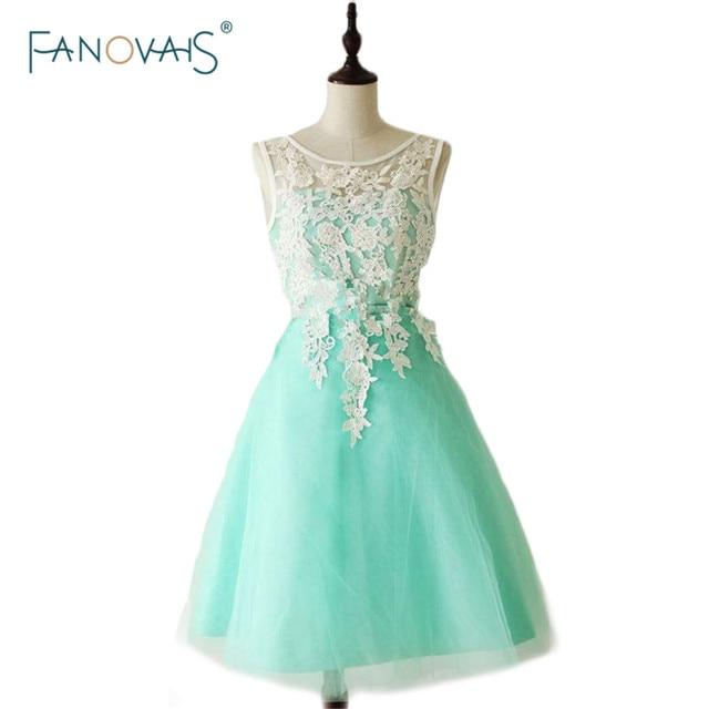 vestidos de fiesta 2015 teal Appliques v neck bridesmaid dress with ...