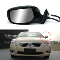 9 Pins Exterior Side Automatic Folding Power Adjustable Heated Glass LED Turn Signal Mirror For Toyota