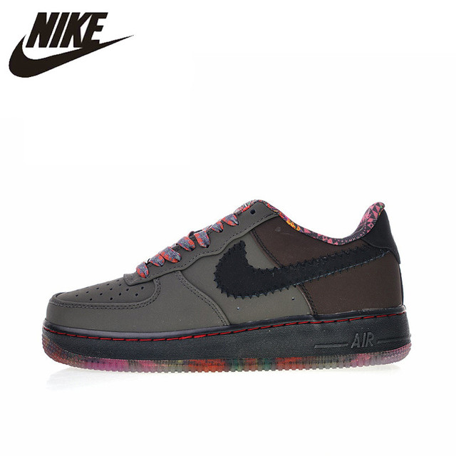 Original Authentic Nike Air Force 1 Premium Black History Month Men s  Skateboarding Shoes Outdoor Sneakers 2018 New 453419-090 b509ce93a098