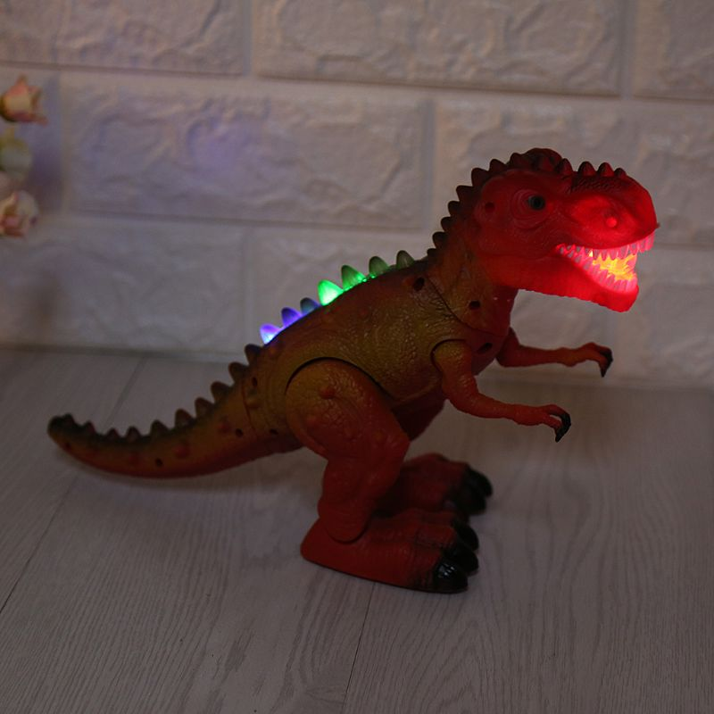 Electric Light Dinosaur Up Walking Roaring Toy For Kids Children Christmas Action Sound Effect Gift