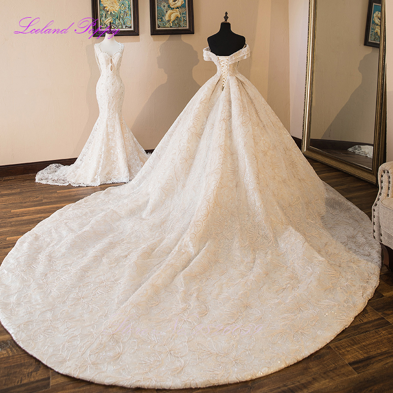 Luxury Ball Gown Wedding Dresses 2019 Sleeveless Pearls Beaded Off the Shoulder Floor Length Vestido de Novia Bridal Gowns