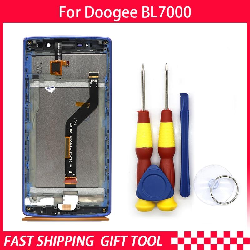Nueva original para DOOGEE BL7000 pantalla táctil LCD pantalla digitalizador Asamblea con reemplazo de Marco + herramientas