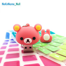 cartoon usb stick 2.0 32GB Rilakkuma flash drive 128GB 4GB 8GB 16GB 64GB pen Bear pendrive silicon gift free delivery