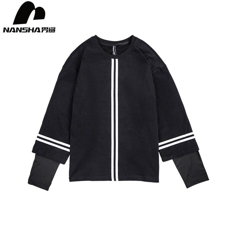 Angemessen Nansha Marke Fleece Hoodie Sweatshirt Männer Streifen Design Mode Preppy Pullover Streetwear High Street Skateboard Hoodies