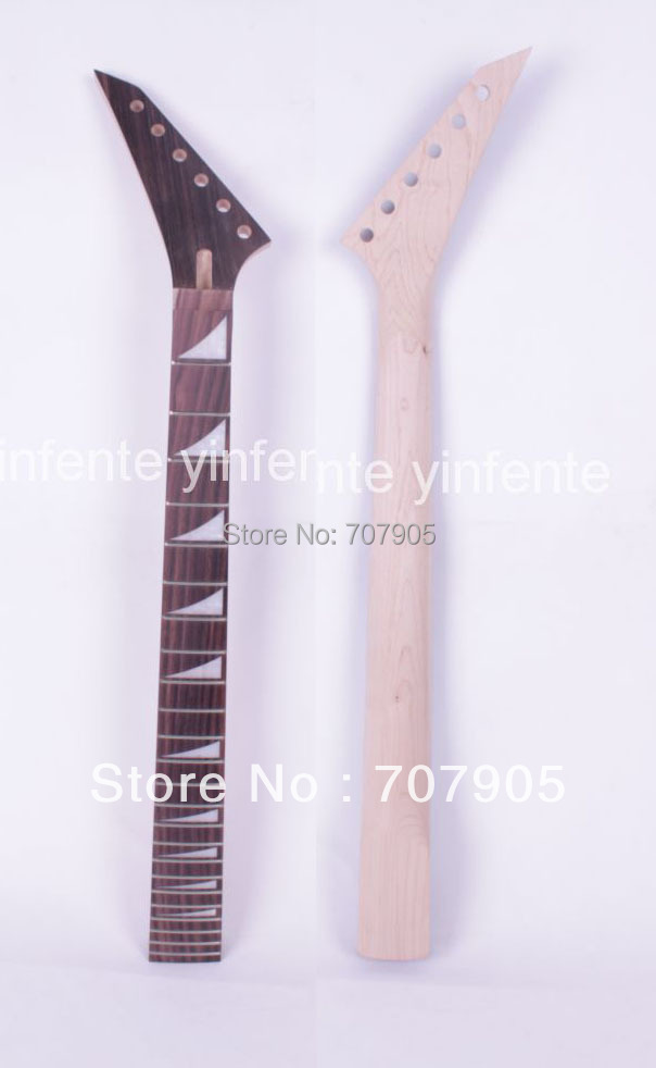 ФОТО 1x Electric guitar neck Maple wood Rosewood 24 fret 25.5