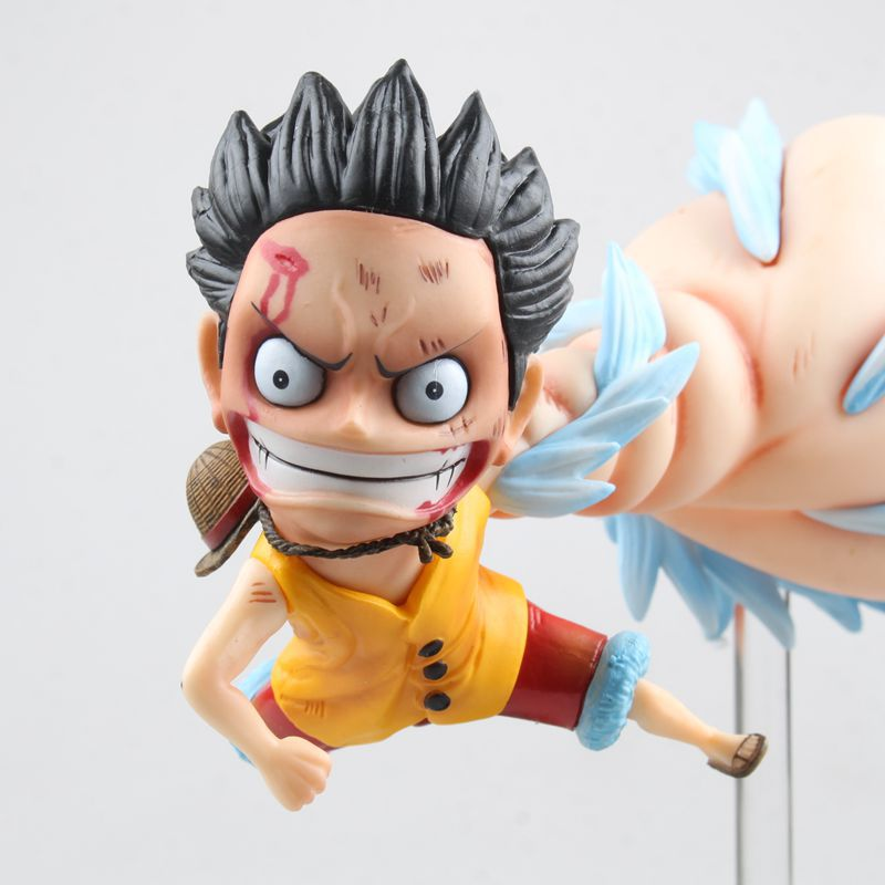 Anime One Piece Portrait of Pirates DX Monkey D Luffy with Big Hand PVC Action Figure Collection Model Toys Doll 18cm