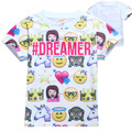 Kids Emoji Shirt Children Boys Girls Emoji Top Emoji T Shirt QQ Face Print Tees For Children Boys Girls Summer Tops Baby