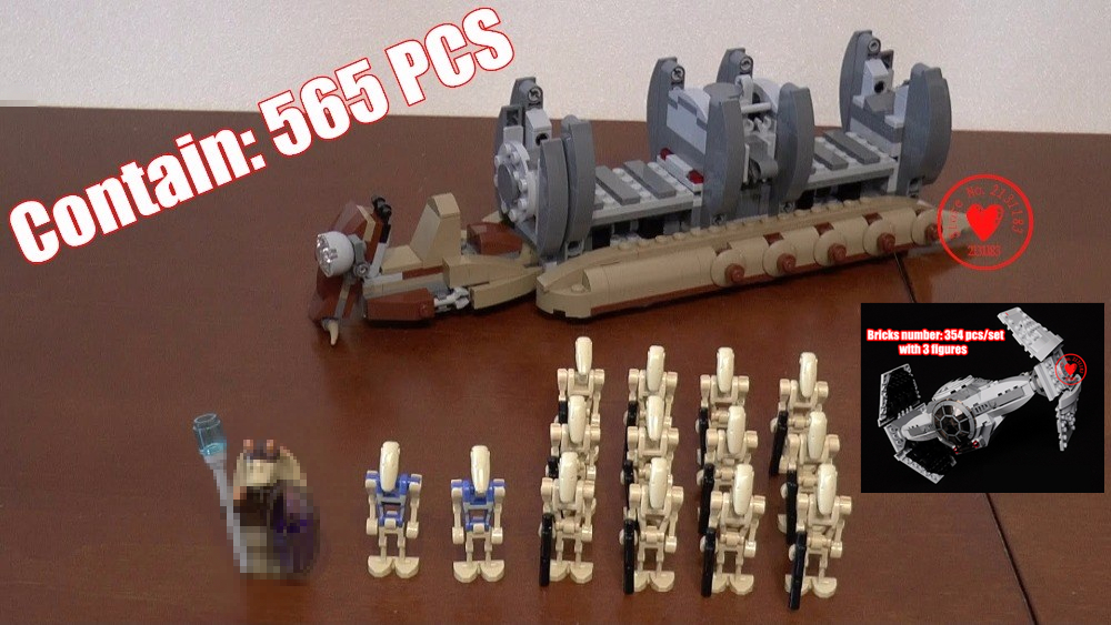 10374 NEW Star wars Battle Droid Troop Carrier model Building Blocks kid Toys kid Gifts set Boys compatible with 75086 lepin bela 10374 star wars 7 battle droid troop carrier 565pcs building block educational toys for children compatible legoe