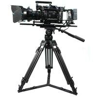 TERIS V20T Heavy duty Professional Carbon fiber Video tripod 30KG with Fluid head for RED Arri film Camcorder tripod