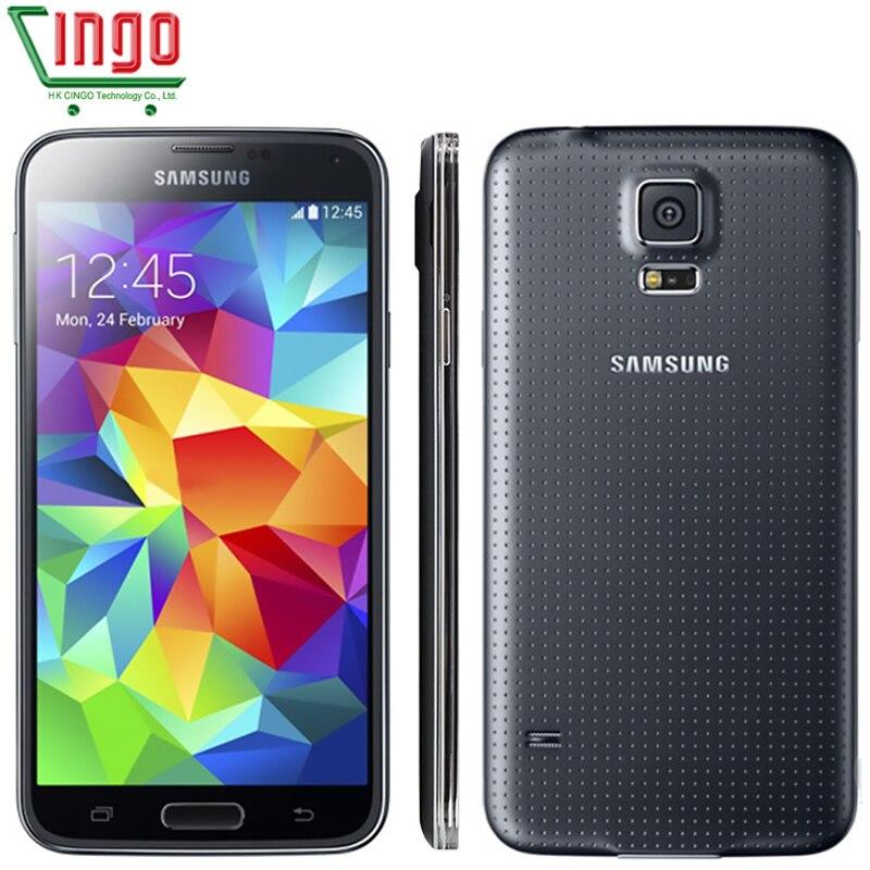 Original Samsung Galaxy S5 Ulocked Galaxy S5 font b Smartphone b font 16MP Camera Quad Core