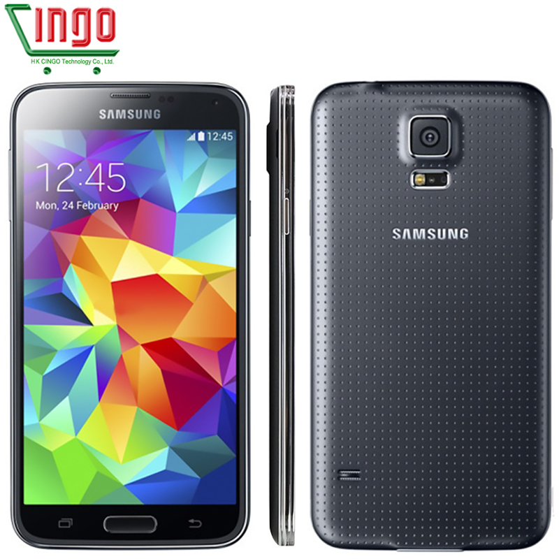 Original Samsung Galaxy S5 Ulocked Galaxy S5 Smartphone 16MP Camera Quad-Core 2GB RAM 16GB ROM LTE Cellphone Free shiping