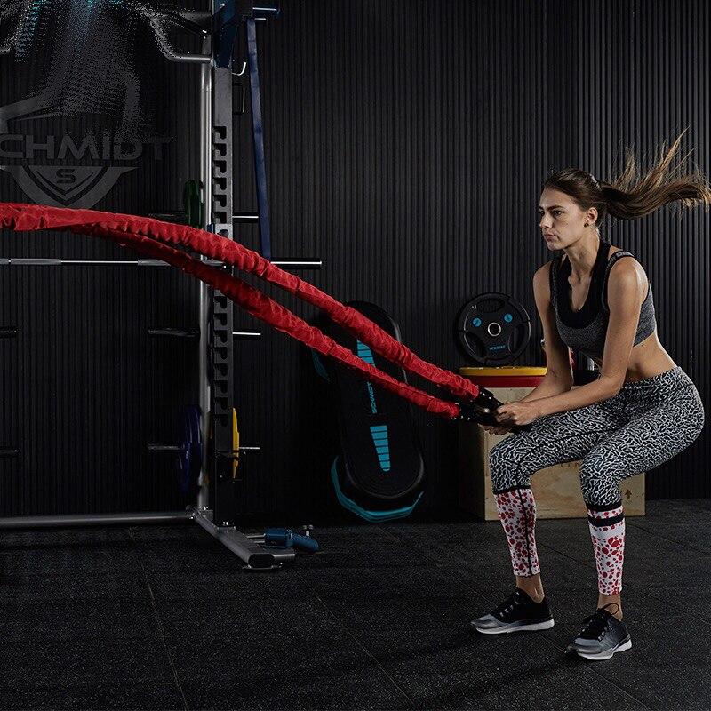 Strong-Toyers 9M/12M/15M Heavy Black Undulation Battling Rope Physical Body Strength цена