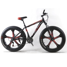 Mountain Bike 24Speed Cross-country Aluminum Frame 26×4.0 Fat bike Snow bicycle road bicycles Spring Fork Unisex Aluminum Alloy