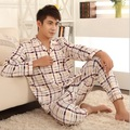Siriusha Male Sleepwear and Pants Four Seasons Sleep Home Clothing!Soft cotton fabric and a variety of plaid!