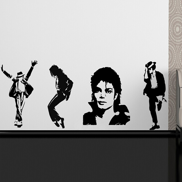Michael Jackson Thriller Vinyl Wall Sticker Wallpaper Poster Wall ...