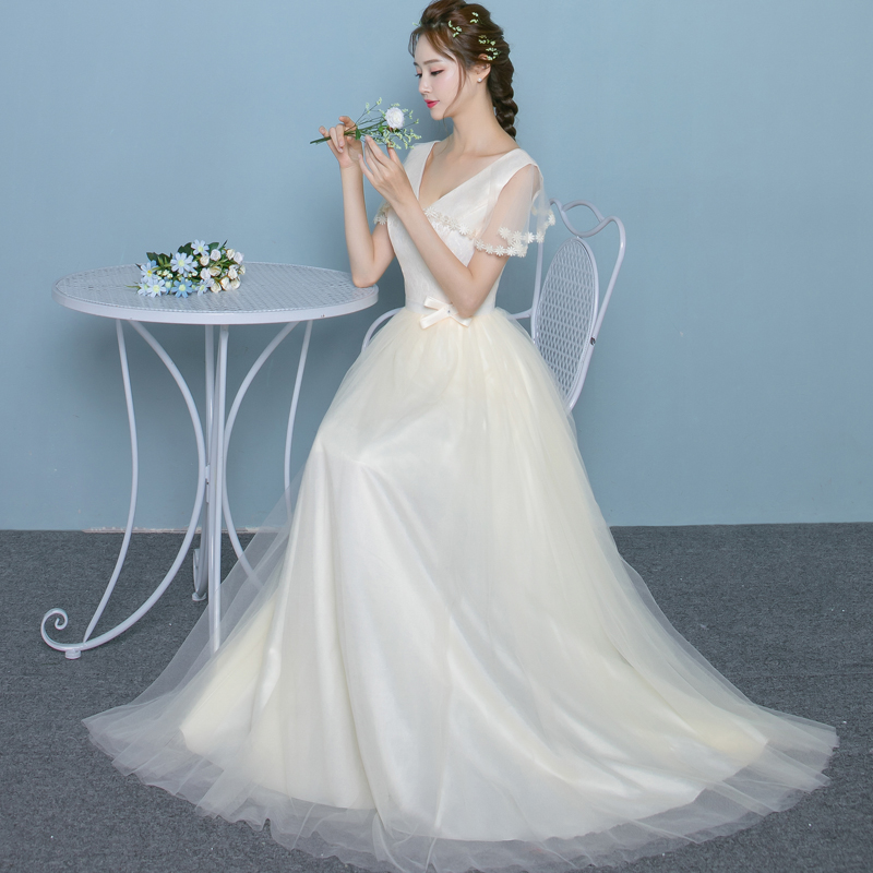 2017 New Bridesmaid Dresses Plus Size Stock Cheap White Long Chiffon Sexy Romantic Sister Simple Elegant Fashion JYX848CB