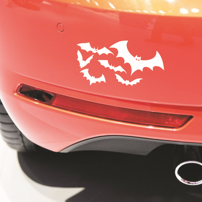 Cool bat auto logo car styling car stickers batman emblem tail decal motorcycle car accessories for bmw benz audi toyota