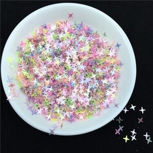 Image 3 - 500 g/pacote 4 milímetros Estrela Forma Solta Lantejoulas Lantejoulas para Unhas Arte Decoração de casamento Confetti Estrela Prego Sequin Artes e artesanato