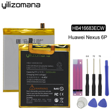 YILIZOMANA Original Phone Battery HB416683ECW 3450mAh for Huawei Google Ascend Nexus 6P H1511 H1512 Replacement Batteries аккумулятор для телефона ibatt hb416683ecw для google nexus 6p h1511 h1512 nexus 6p a1 nexus 6p a2 angler
